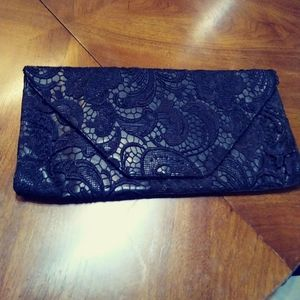Jessica Simpson lacey clutch